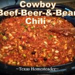 Hearty chili with beef, dark beer and black beans. We love hot soups during the cold winter months. Comfort food at its finest! Come see our favorite hot & hearty soup recipes. #TexasHomesteader