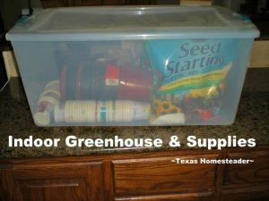 Indoor greenhouse. FEBRUARY GARDEN CHORES: Gardening starts way before planting time. During the winter months I'm able to take steps to assure a bountiful harvest #TexasHomesteader