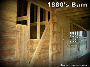 Come tour our old 1880's Texas barn. I love the old rustic patina of the wood, the square nails and all the details. #TexasHomesteader