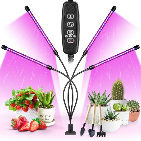 Clip-on grow light to help seeds get a healthy start as seedlings. #TexasHomesteader