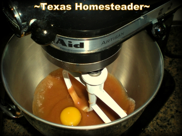Baking a double batch of homemade banana bread, making it healthier by substituting applesauce for the shortening. #TexasHomesteader