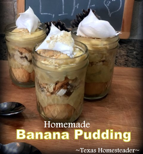 Healthy wholesome ingredients - skim milk, real butter, flour, egg yolk, sugar, and vanilla, plus bananas & wafers for banana pudding #TexasHomesteader
