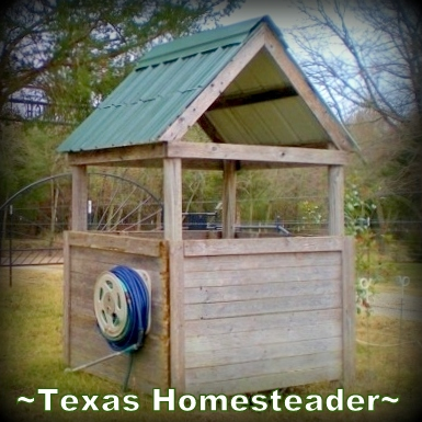 Rainwater catchment into deep underground cistern. A repurposed coffee can can be used for deep soak watering in the garden. It conserves water while allowing water to slowly drip. #TexasHomesteader
