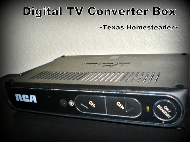 Digital TV Converter Box. When we moved to the country we discovered TV reception was poor at best. But we didn't resort to a monthly cable bill - see how! #TexasHomesteader