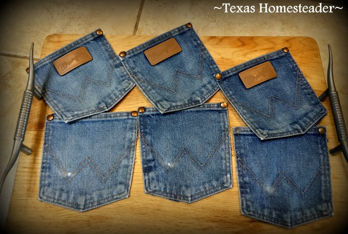 Repurposing denim into pocket coasters #TexasHomesteader