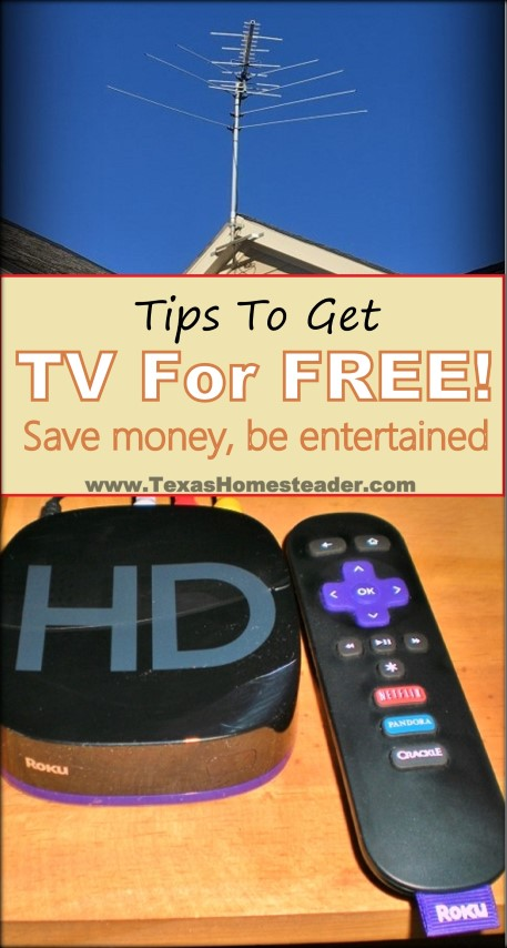 When we moved to the country we discovered TV reception was poor at best. But we didn't resort to a monthly cable bill - see how! #TexasHomesteader