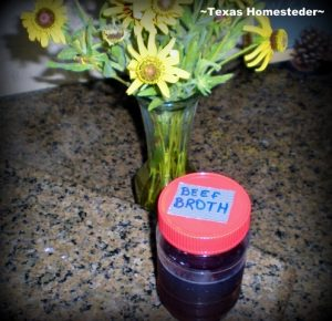 Food in Repurposed Plastic Jars For Freezer. What items can be repurposed from their original use before throwing away? Read what we do with glass and plastic jars and holey socks. #TexasHomesteader