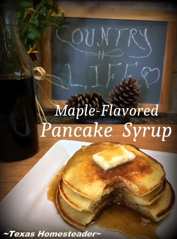 THIS HOMEMADE MAPLE-FLAVORED PANCAKE SYRUP Recipe Uses Standard Pantry Ingredients & Is Ready In Just 7 Minutes! #TexasHomesteader