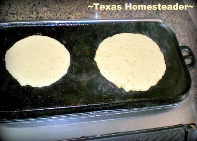 Cast iron stovetop griddle. Quick, Easy & Delicious Pancakes SHOULDN'T Come From A Box! Check Out My EASY Recipe for Homemade Pancakes. #TexasHomesteader