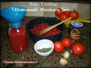 I love solar cooking, it keeps that cooking heat & humidity out of the kitchen. Today I'm making marinara sauce using NO EXTRA ENERGY! #TexasHomesteader