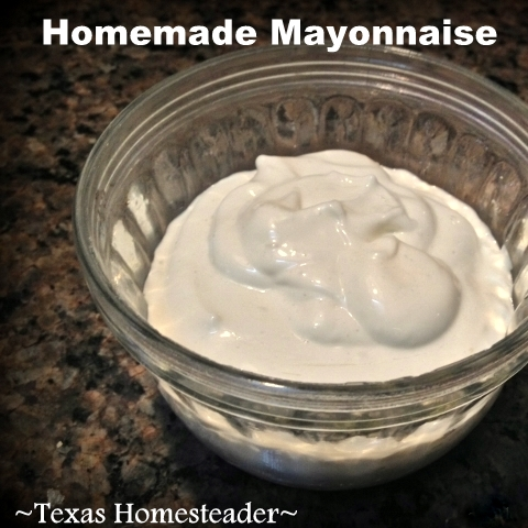 MYO Flavored Mayonnaise Recipe - Savory Flavored, Quick To Make & A Secret Ingredient Makes It Last Longer! #TexasHomesteader