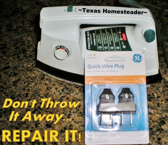 It's easy to throw out your worn whatsit and buy another one, but it's more environmentally friendly to fix it. Thankfully it's easy & inexpensive too! #TexasHomesteader