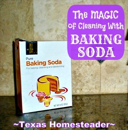 Baking soda is great for cleaning, reducing odors & it's a mild abrasive as well. But there are even some cosmetic uses as well! #TexasHomesteader