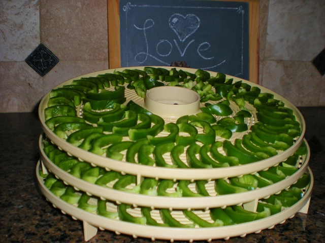DEHYDRATING BELL PEPPERS - After running into a great deal on bell peppers I decided to dehydrate them for future use. It was easy! #TexasHomesteader