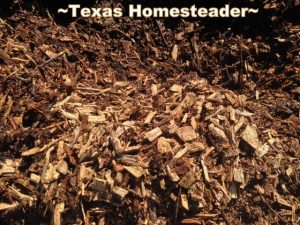 Free bark mulch. It's easy to find little ways to save money. It just takes a different mindset. Come see 5 frugal things we did to save money this week. #TexasHomesteader
