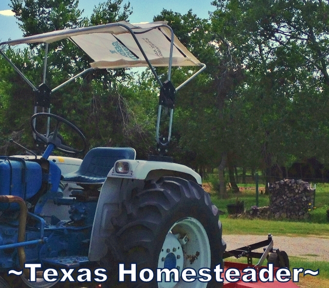 "My tractor canopy material was shot so I needed to come up with a solution. I say ""Use What Ya Got""! See what my solution was. #TexasHomesteader"