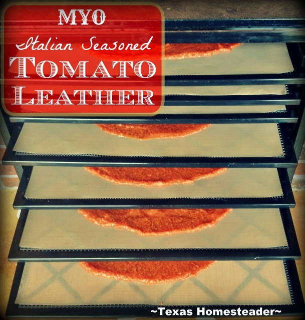 Make tomato leather to use for homemade pizzas - just roll it out & start adding toppings!. I decided to give it a go, come see! #TexasHomesteader