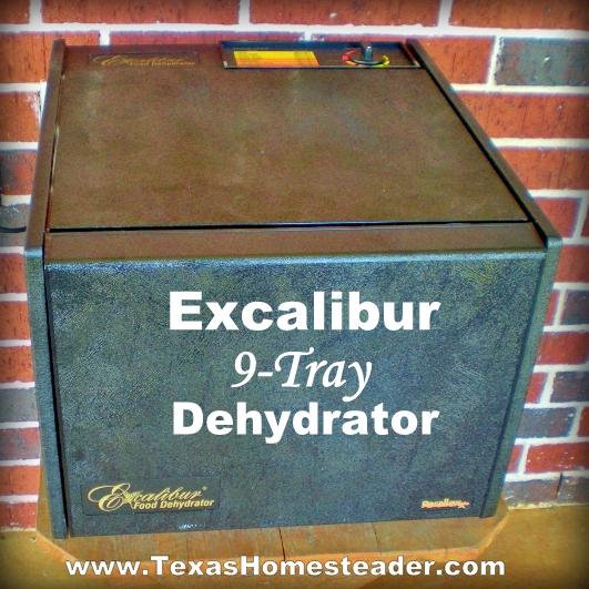 Excalibur 9-tray dehydrator. #TexasHomesteader