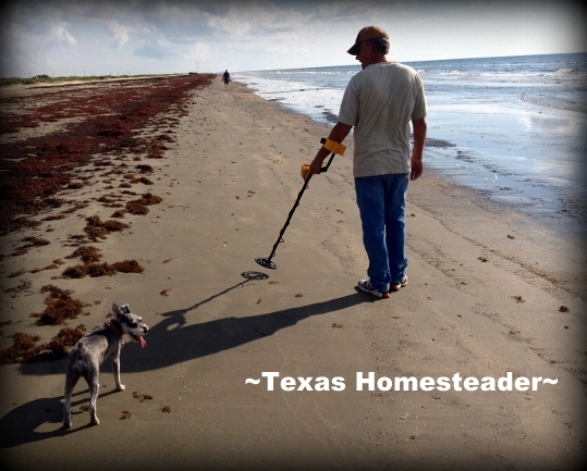 Metal detecting on the beach. What a fun week we had at Surfside Beach in south Texas. We rented a beach house & enjoyed the beach too. Come see what fun we had! #TexasHomesteader