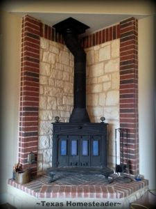 Cleaning The Chimney: It's important to clean flammable creosote from your chimney each year, we cleaned our own for the first time! #TexasHomesteader