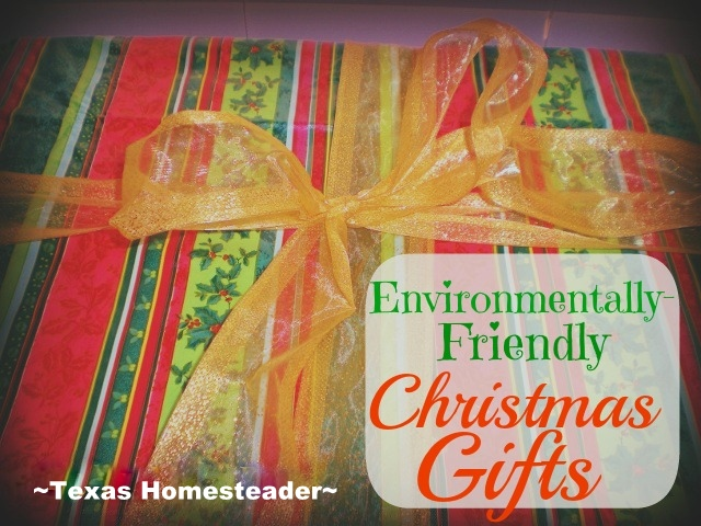 Can you really give environmentally-friendly gifts that they'll actually love? As it turns out, yes! See my low-waste options. #TexasHomesteader