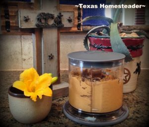 Flavorful Homemade Hummus In Minutes Using Just A Few Simple Inexpensive pantry Ingredients. It Really IS Stupid-Easy To Make!! Store right in Ninja blender container. #TexasHomesteader