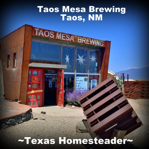 Taos Mesa Brewing. Red River, NM is probably best known for its ski facilities. But I much prefer to visit in the summer, it's absolutely beautiful! We visited surrounding areas too. Check out the FUN! #TexasHomesteader