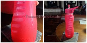 Condensation issue. I hate plastic, and I hate disposable water bottles or cups. I'm reviewing a 60% Recycled GLASS reusable water bottle - see what I found. #TexasHomesteader