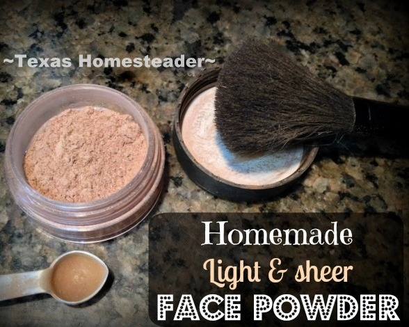 HOMEMADE FACE POWDER: With all the hype these days about toxins in cosmetics, I'm happy to find a solution that works well for pennies #TexasHomesteader