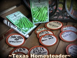 I've found a cute and easy way to repurpose an item I already have in my home to use as veggie plant markers in my vegetable garden. #TexasHomesteader