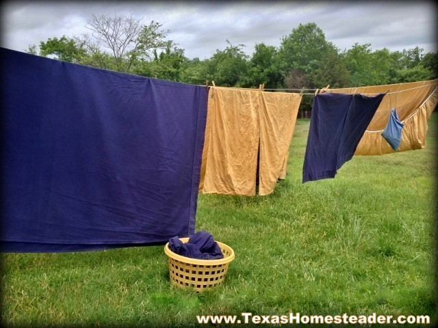 I make my own powdered laundry detergent to clean our clothes. #TexasHomesteader