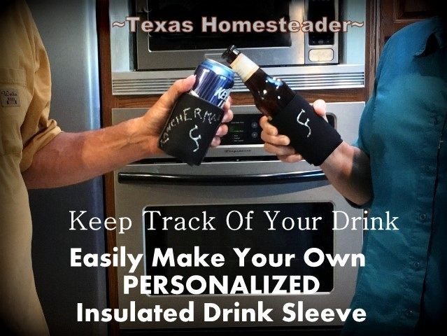You set your drink on the table and then forget which one is yours, so you get a fresh drink, what a waste! Here's how I battle that! #TexasHomesteader