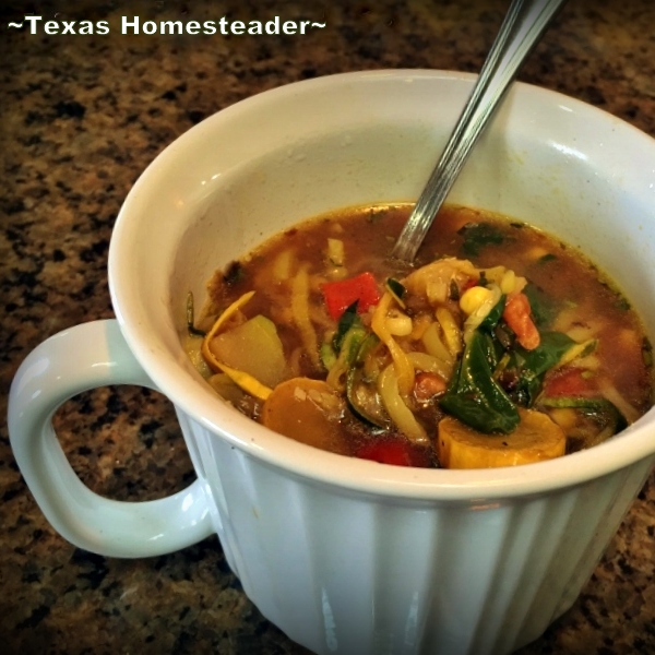 Keeping Warm - Eating hot soup can keep you warm when it's cold. #TexasHomesteader