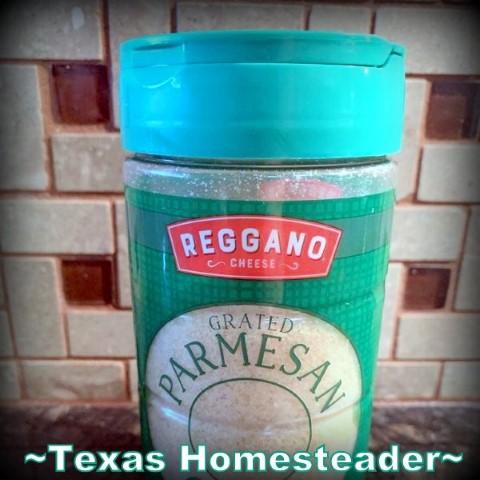 Repurposing a parmesan cheese shaker lid on a glass canning jar. #TexasHomesteader
