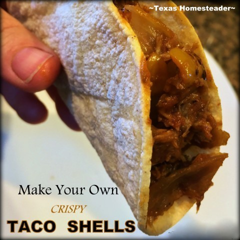 Do you hate to waste money on hard, stale taco shells? Check out this easy Crispy Baked Taco Shells Homestead Hack & make your own! #TexasHomesteader