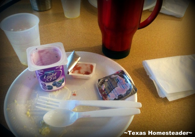 I've found some simple solutions to the use-once, throw-away disposables when eating out. Come see what I did! #TexasHomesteader