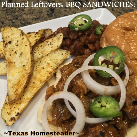 I love Planned Leftovers, especially this BBQ because it's so quick, so easy yet so delicious. Check out this homestead hack. #TexasHomesteader