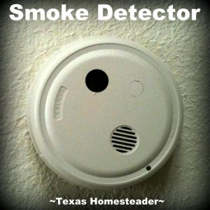 Make sure smoke detectors have batteries. When you go to a restaurant, do you notice the emergency exits? Are they blocked? Locked?? This is a life-or-death fire safety issue! #TexasHomesteader