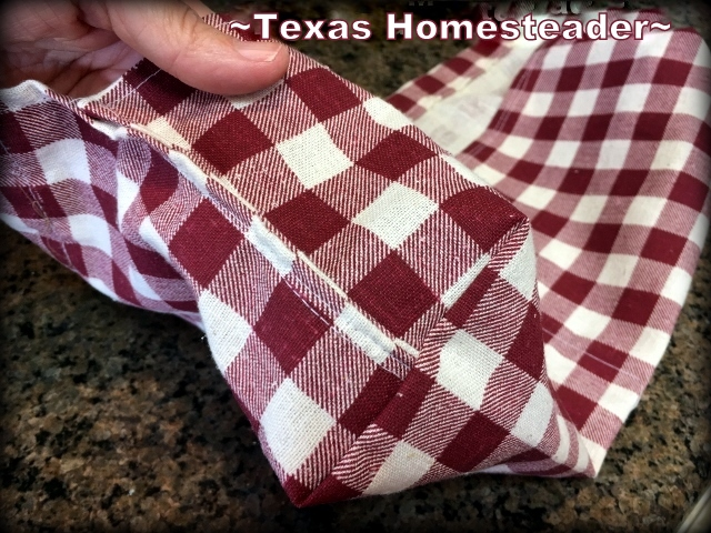 I used some fabric from a thrift store and some cotton cording to make a cute clothespin apron. It was an awesome gift! #TexasHomesteader
