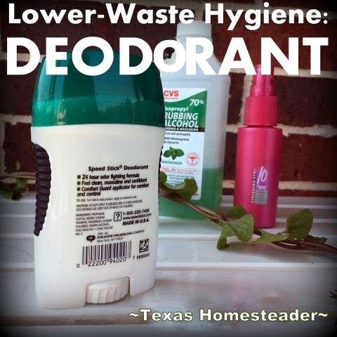 I've been mindful of the waste in my personal hygiene routine. I'm making my own mouthwash & bar soap. Let's talk about deodorant! #TexasHomesteader