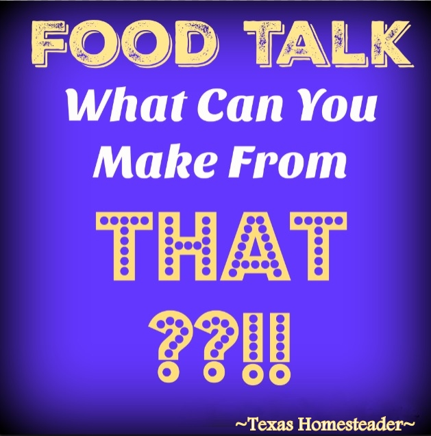What Can You Make With Chickpeas?? I share a few ideas of different things I like to make with Chickpeas. Check out this Food Talk! #TexasHomesteader