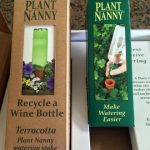 Repurposed Water Bottle Plant Watering System. here are many gift options for environmentally-aware for friends. Help them ditch the plastic with a safety razor or glass water bottle - many gift ideas! #TexasHomesteader