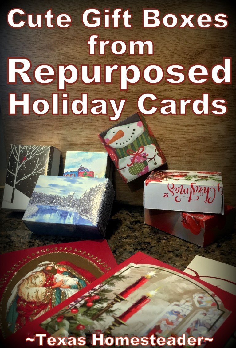 Texas Christmas Cards.Pinterest Repurpose Holiday Christmas Cards Into Gift