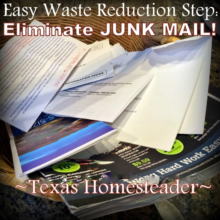I hate junk mail. A Lot! So these days I'm more keenly focused on stopping that junk from hitting my mailbox in the first place. Thankfully it's easy. Come see How. #TexasHomesteader