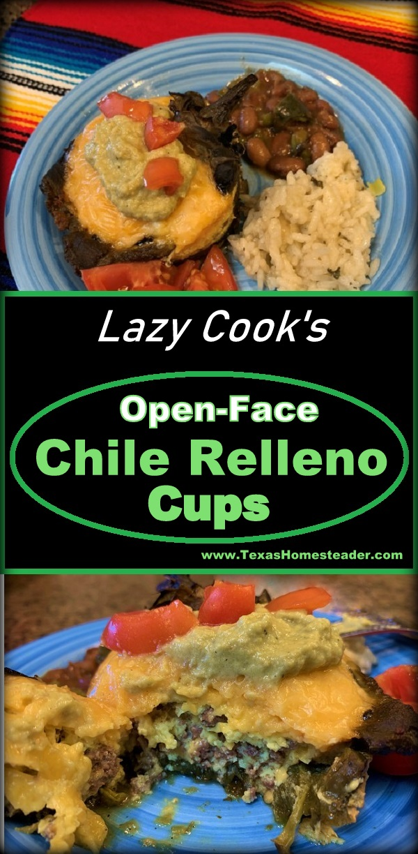 Lazy Cook's Open Face Chile Relleno Cups #TexasHomesteader