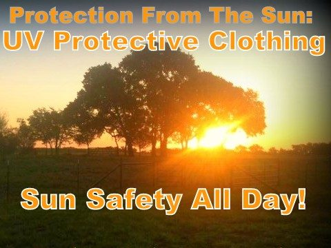 I hate slathering sunscreen on my skin every day. All those chemicals! But we work outside each day & sun protection is important! I protect my skin with sun-protective clothing. #TexasHomesteader