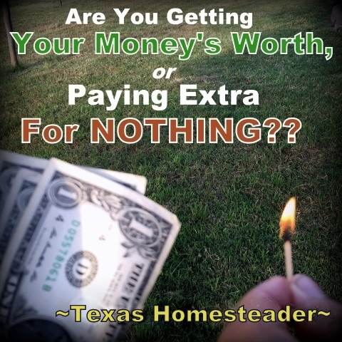 Money To Burn? Don't get stuck paying much more than you should! Don't go with the status quo because that's the way it's always been. A little research can pay off BIGTIME! #TexasHomesteader