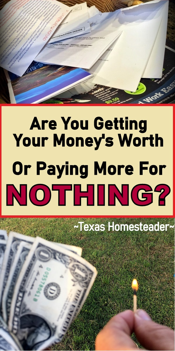 Don't get stuck paying much more than you should! Don't go with the status quo because that's the way it's always been. A little research can pay off BIGTIME! #TexasHomesteader