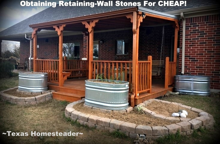 Back Porch Addition. We needed to landscape our porch area. But soil and plants are expensive! Come see how I landscaped it beautifully on the cheap. #TexasHomesteader