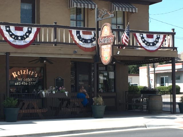 Ketzler's Biergarten in Granbury, Texas - an anniversary trip. What a wonderful time we had! Come see my kind of souvenier shopping. #TexasHomesteader